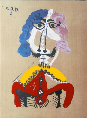 portraits imaginaires, le courtisan by pablo picasso