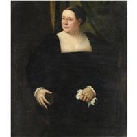 ritratto di gentildonna in abito scuro by lambert sustris