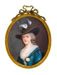 retrato de anne josephine théroigne de méricourt, la belle ligerois (1765-1817) by antoine vestier