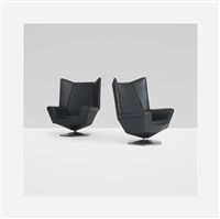 prisma lounge chairs (pair) by voitto haapalainen