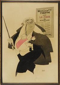 woollcott theatre - la fiske in repertoire... by ralph barton