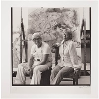 william and elaine de kooning by hans namuth