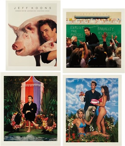 art magazine ads portfolio set of 4 by jeff koons