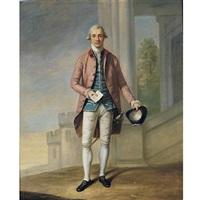 portrait of a gentleman (sir james wright?) with windsor castle beyond by samuel de wilde