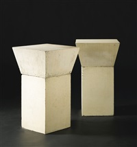 untitled (a pair of tables) (2 works) by scott burton