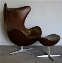 egg chair & ottoman by arne jacobsen
