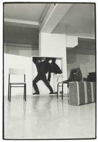 performance di yvonne rainer (con philips glass) al festival music and dance u.s.a. l'attico - roma by claudio abate