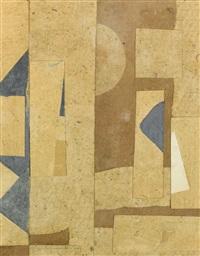 ohne titel, hell- und dunkelbraun (untitled, light- and dark brown) by kurt schwitters