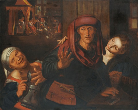 the choice between virtue and vice by jan steen