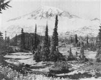 northwest mountain scene by asahel curtis