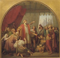 emperor rudolf von habsburg as the personification of justice by hermann anton stilke