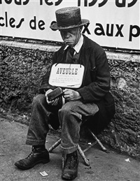 blind man, paris by lisette model