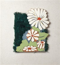 composition avec fleurs by evelyne axell