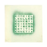 emme i elle elle e... (verde su verde) by alighiero boetti