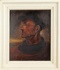 portrait de pecheur by marcel gillis