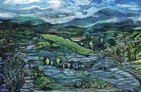 landscape in bali by arie smit