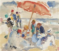 outing at the beach by martha walter