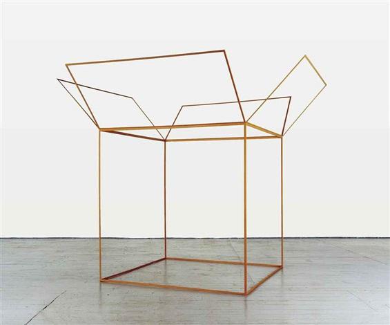 untitled wooden open box by tom friedman