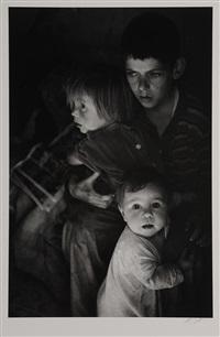 trailer camp children by ansel adams