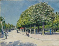 argenteuil, fête foraine by gustave caillebotte