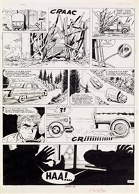 marc d'acier planche originale n°37 by jean-michel charlier and eddy paape