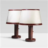 table lamps (pair) by paul dupré-lafon