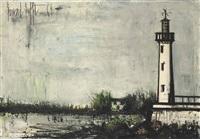 phare aux environs d'audierne by bernard buffet