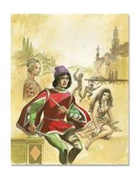 la toile et la dague. le mort sur le bûcher by edouard aidans