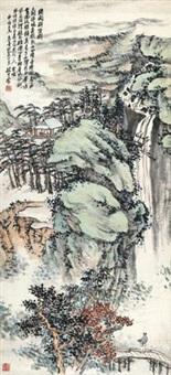 绣阁联吟图 (couplet) by zhao yunhe