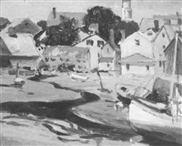 low tide in the harbor by arthur j. beaumont
