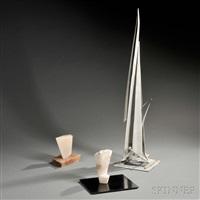 three sculptures (3 works) by victor anton