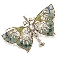 butterfly pendant-brooch by henri vever