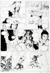 samurai, planche no. 19 by jean genet