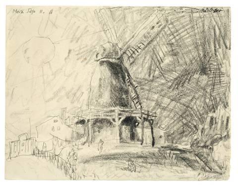 windmühle by lyonel feininger