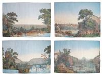 suite de 4 papiers peints panoramiques by jacques-gerard milbert
