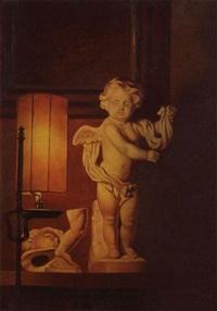intérieur avec un modèle en plâtre d'un ange by charles de mol