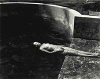 nude floating by edward weston