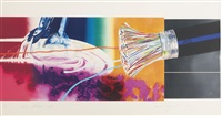 horse blinders (west, east, north, south) (set of 4) by james rosenquist