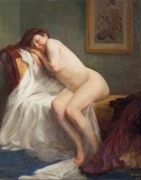 nudo di donna in un interno by andré félix roberty