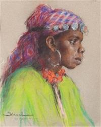 femme marocaine de profil by carlos abascal