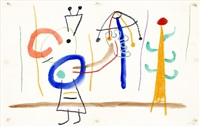 drawing for ubu roi by joan miró