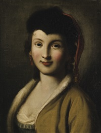 portrait of a young woman by pietro antonio rotari