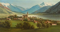 schweizer landschaft (am walensee) by eugen felix prosper bracht