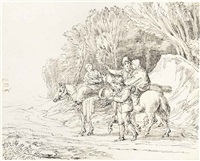 travellers on a path by john white abbott