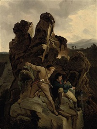 preparing an ambush by karl friedrich lessing