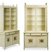 vitrine cabinet (+ vitrine cabinet; pair) by vincent fourcade