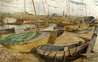 low-tide in the harbour by guy seymour warre malet
