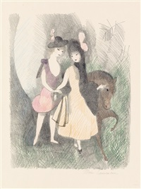 le poney (2e planche) by marie laurencin