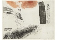 the arrival (from a rake's progress) by david hockney