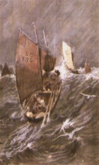 temps fort à douarnenez by george gilbert (sir) scott